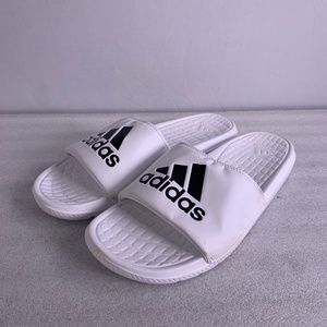 Men's Adidas Cloudfoam Plus Logo Slide Sandals, 12